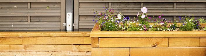 Raised Garden wooden edging boarder