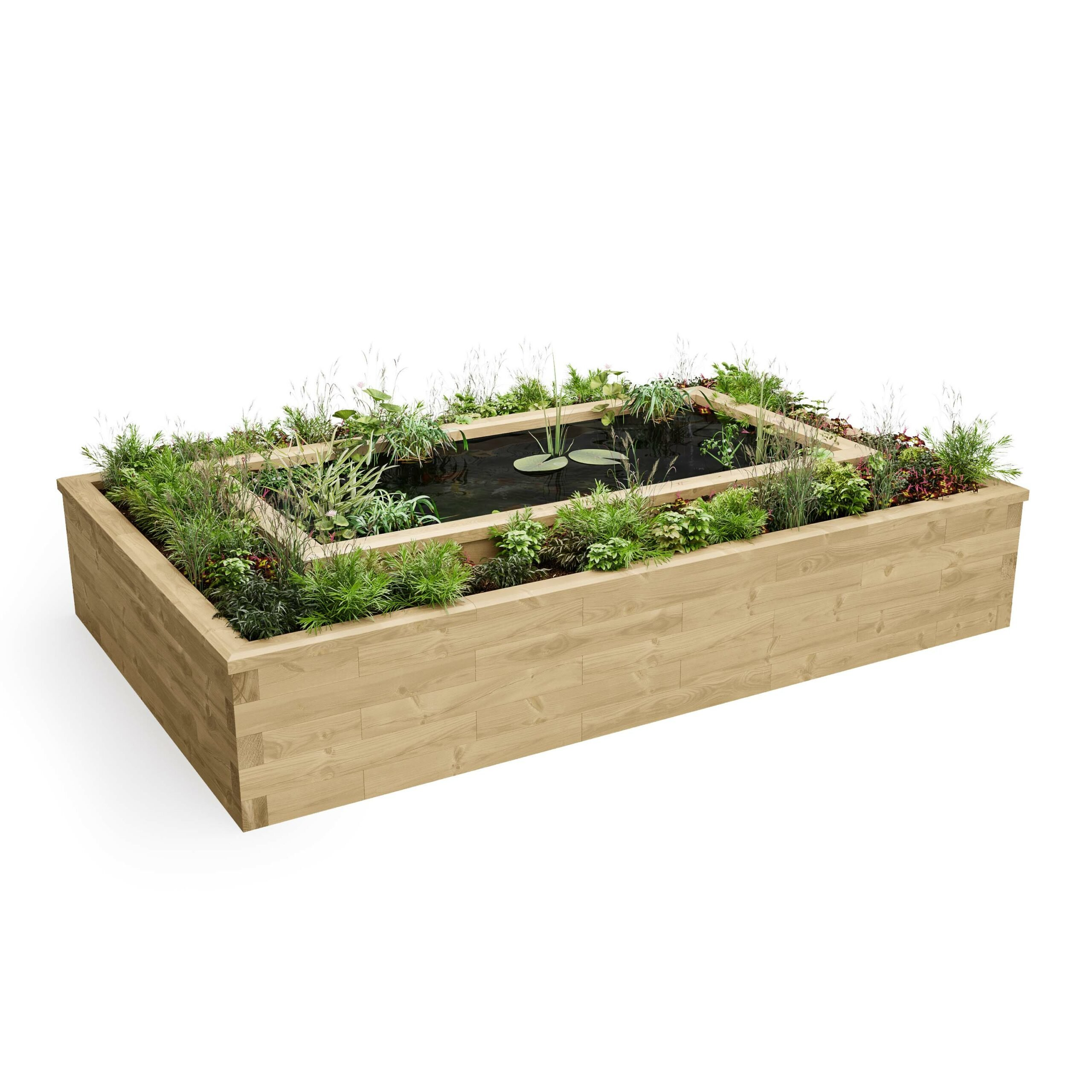 How to build a garden pond using WoodBlocX