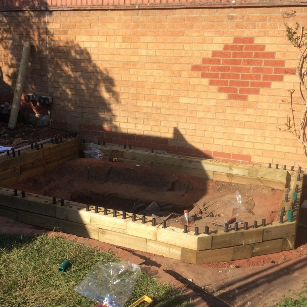 How to build a raised pond
