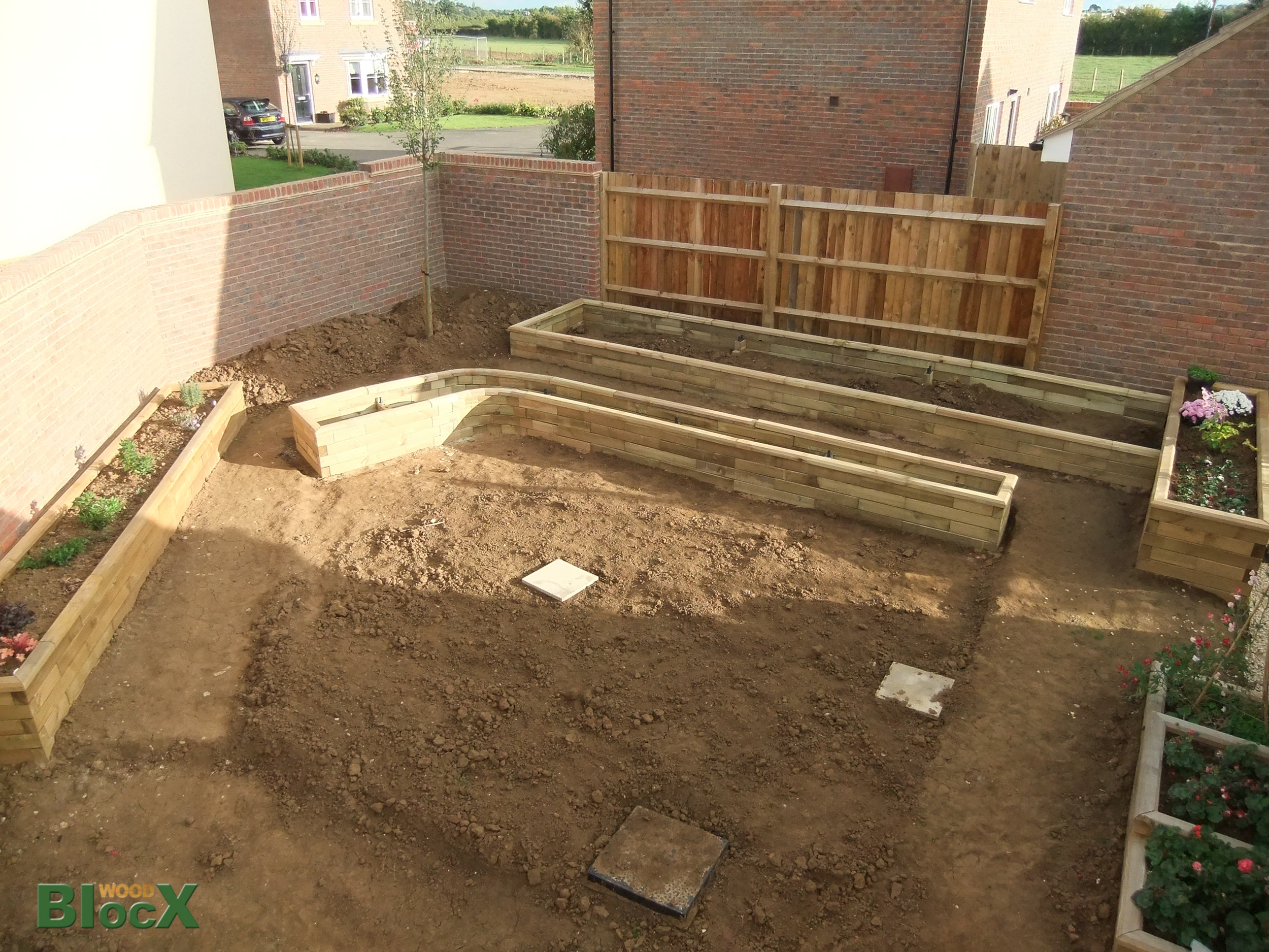 Making a garden from scratch easy with woodblocx raised for Designing a garden from scratch