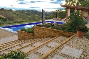 WoodBlocX raised bed and step ideas