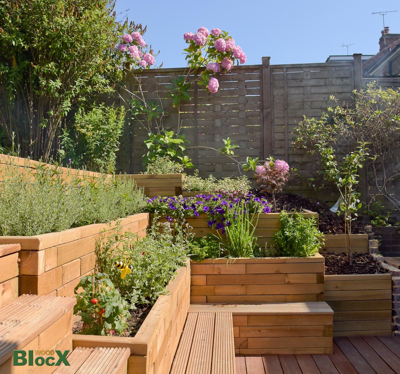 Timber Retaining walls   WoodBlocX   Wood Walls and Steps - WoodBlocX