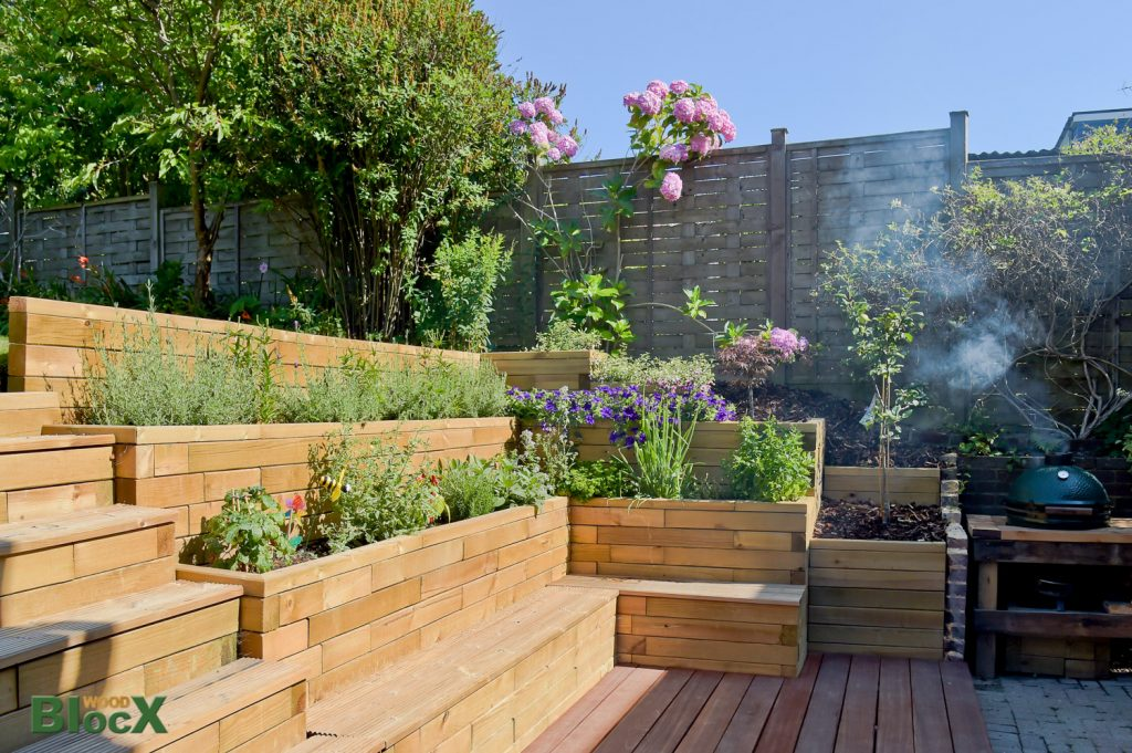 Redesign your garden easily with the woodblocx modular for Redesign your garden