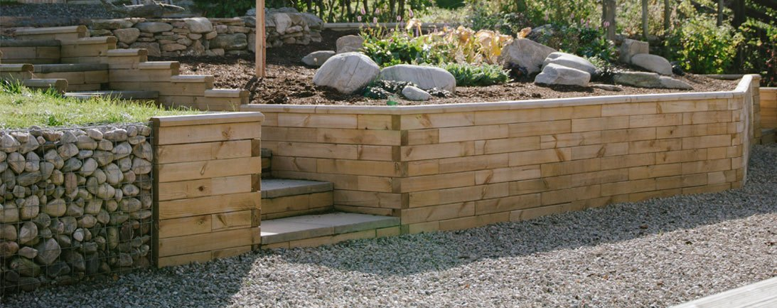 Garden Retaining Walls Using Woodblocx Modular Systems Woodblocx