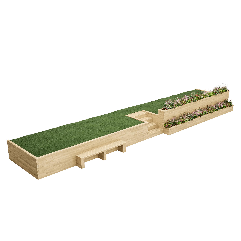 Timber Retaining walls | WoodBlocX | Wood Walls and Steps - WoodBlocX