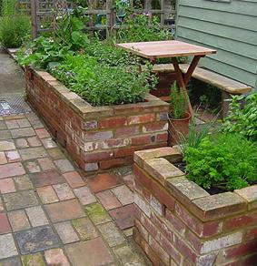 Brick raised bed