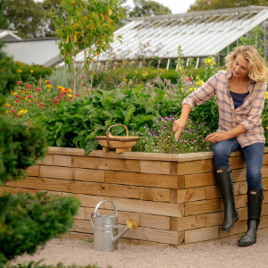 Creating an accessible garden using raised beds