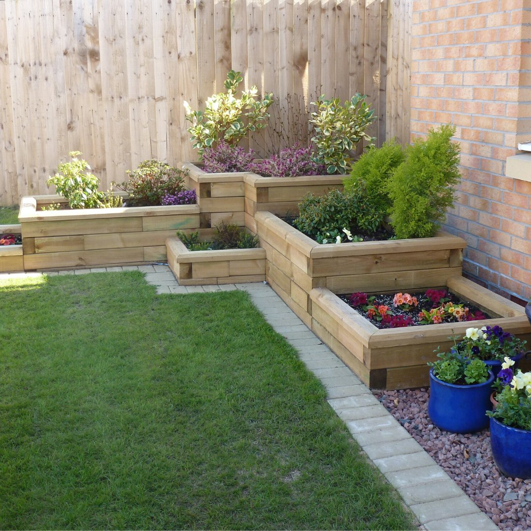 WoodBlovX best selling rectangular raised timber beds