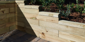 What to use for a retaining wall