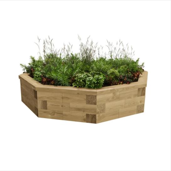 WoodBlocX raised garden bed