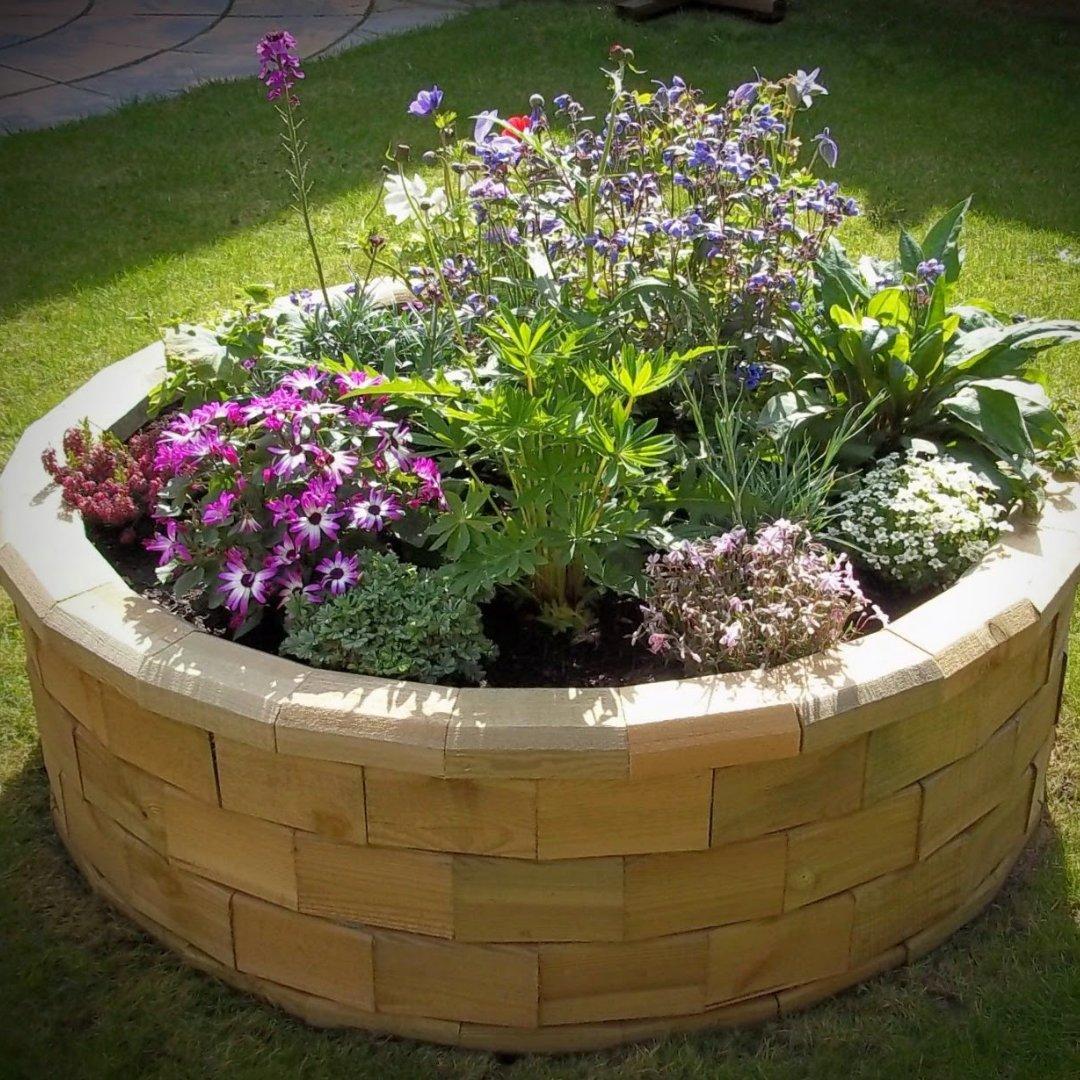 circular raised garden bed